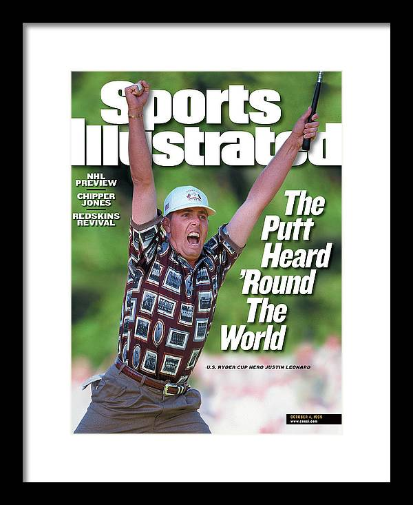 Sports Illustrated Framed Print featuring the photograph Justin Leonard, 1999 Ryder Cup Sports Illustrated Cover by Sports Illustrated