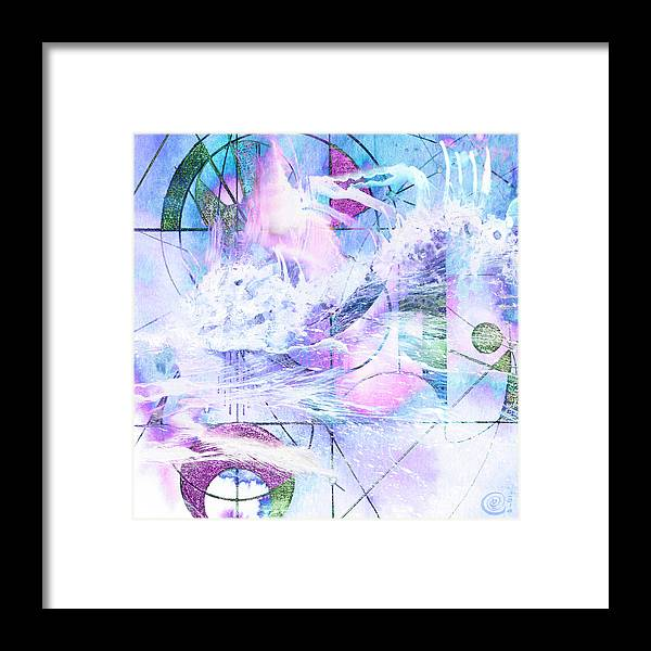 Kaleidoscope Framed Print featuring the mixed media Kaleidoscope Sea by Chris Cole