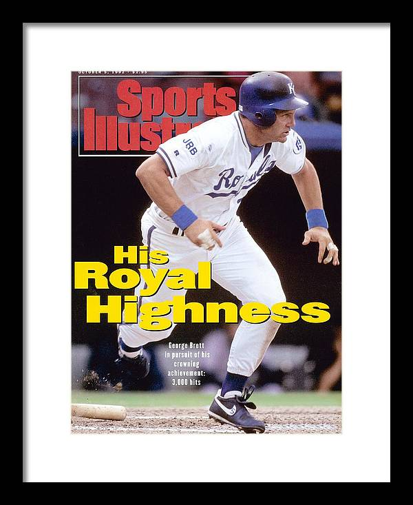 Magazine Cover Framed Print featuring the photograph Kansas City Royals George Brett... Sports Illustrated Cover by Sports Illustrated