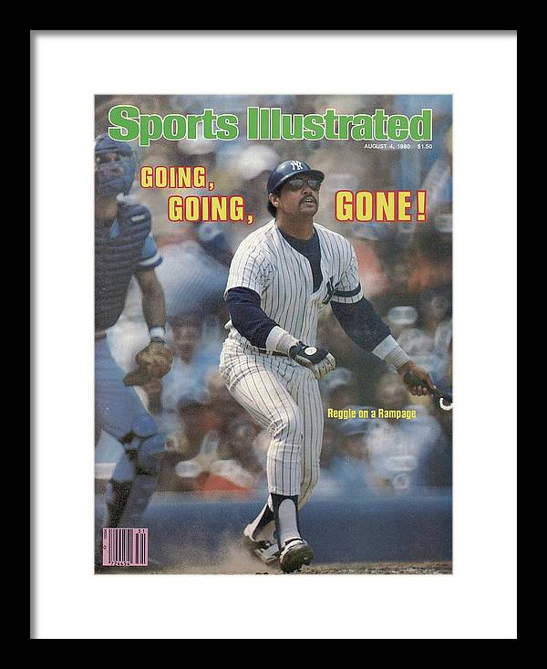 Magazine Cover Framed Print featuring the photograph Kansas City Royals V New York Yankees Sports Illustrated Cover by Sports Illustrated