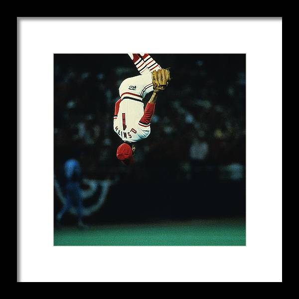 St. Louis Cardinals Framed Print featuring the photograph Kansas City Royals V St. Louis Cardinals by Ronald C. Modra/sports Imagery