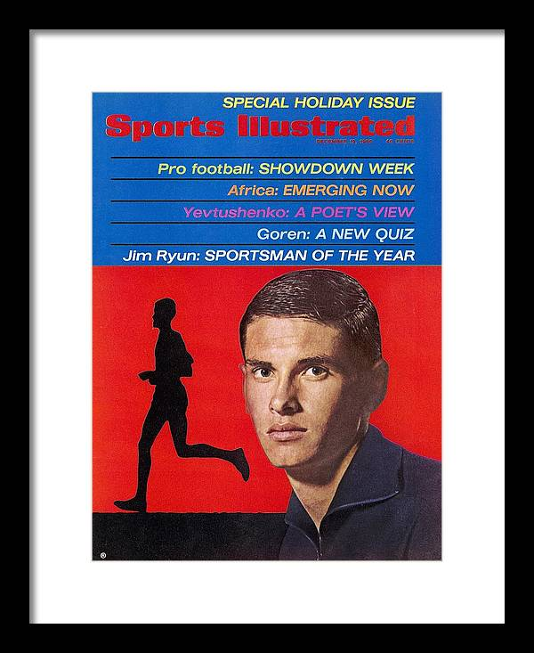 Magazine Cover Framed Print featuring the photograph Kansas Jim Ryun, 1966 Sportsman Of The Year Sports Illustrated Cover by Sports Illustrated
