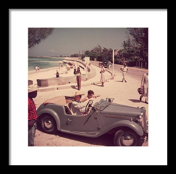 Montego Bay Framed Print featuring the photograph Katharine Hepburn by Slim Aarons