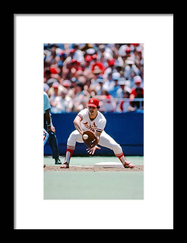 St. Louis Cardinals Framed Print featuring the photograph Keith Hernandez St. Louis Cardinals by St. Louis Cardinals, Llc
