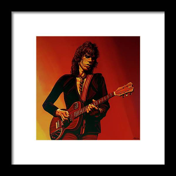 Keith Richards Framed Print featuring the painting Keith Richards 3 by Paul Meijering