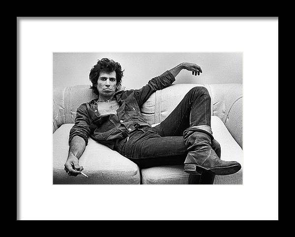 Keith Richards - Musician Framed Print featuring the photograph Keith Richards Portrait Session by George Rose