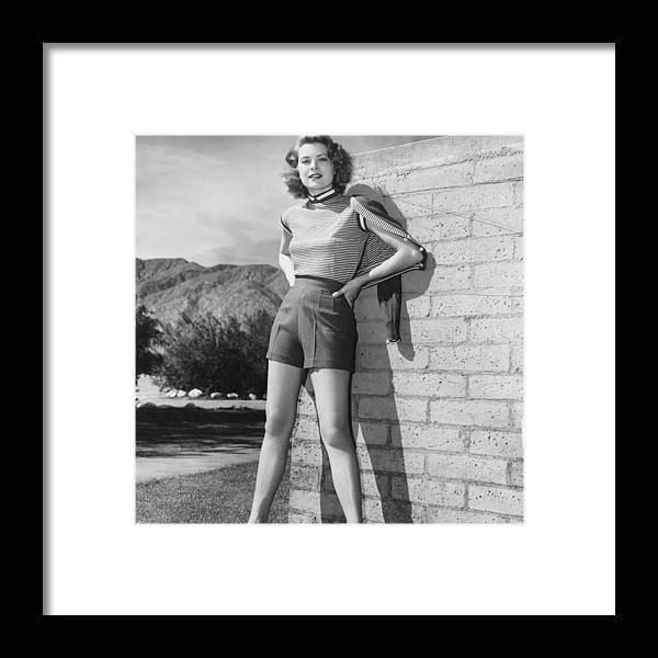People Framed Print featuring the photograph Kelly In Palm Springs by Pictorial Parade