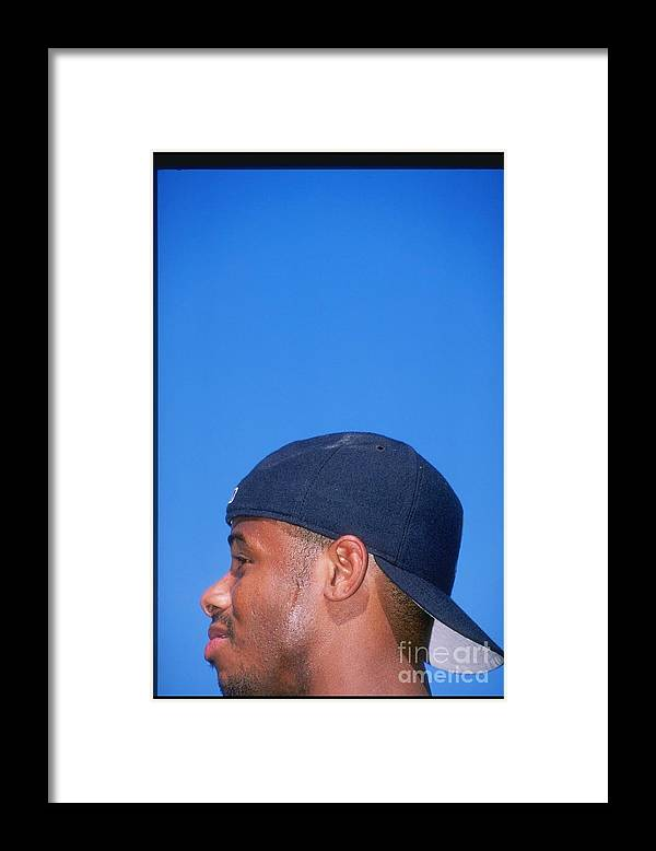 People Framed Print featuring the photograph Ken Griffey Jr by Harry How