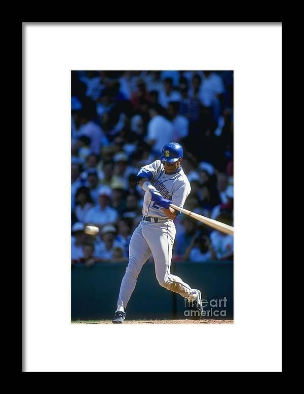 1980-1989 Framed Print featuring the photograph Ken Griffey Jr. Mariners by Jonathan Daniel