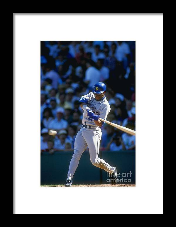 1980-1989 Framed Print featuring the photograph Ken Griffey Jr. Mariners by Jonathan Daniel