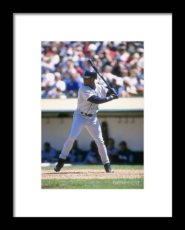 People Framed Print featuring the photograph Ken Griffey Jr. Mariners by Otto Greule Jr
