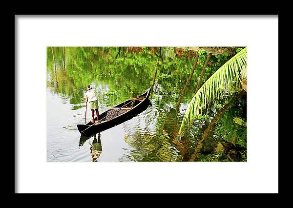 Scenics Framed Print featuring the photograph Kerala Backwaters by Gopan G Nair