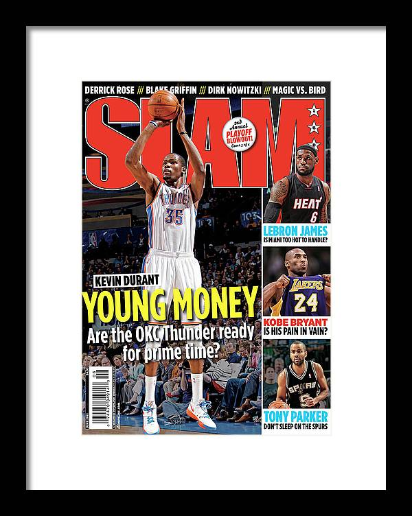 Kevin Durant Framed Print featuring the photograph Kevin Durant: Young Money SLAM Cover by Getty Images