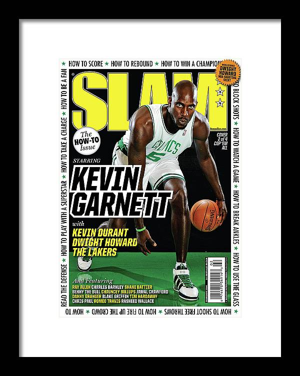 Kevin Garnett Framed Print featuring the photograph Kevin Garnett SLAM Cover by Getty Images