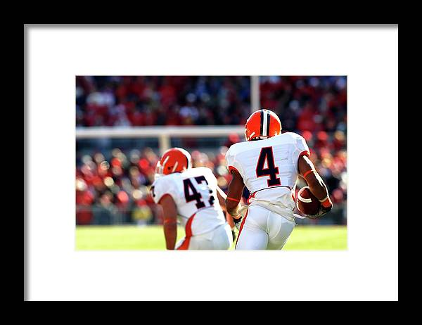 American Football Uniform Framed Print featuring the photograph Kickoff Return by Filo