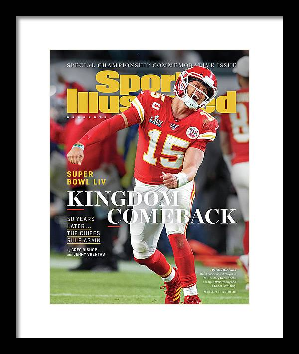 Miami Gardens Framed Print featuring the photograph Kingdom Comeback Kansas City Chiefs, Super Bowl Liv Sports Illustrated Cover by Sports Illustrated