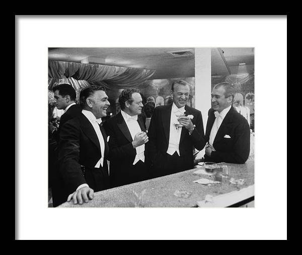 Jimmy Stewart Framed Print featuring the photograph Kings Of Hollywood by Slim Aarons