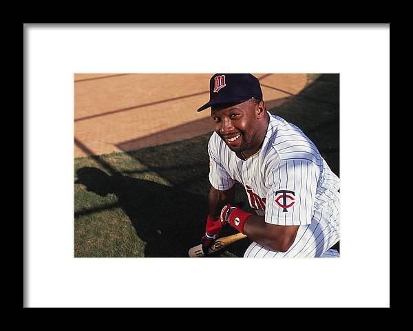 American League Baseball Framed Print featuring the photograph Kirby Puckett by Ronald C. Modra/sports Imagery