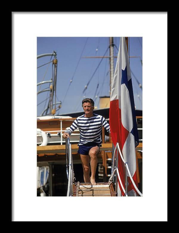 Kirk Douglas Framed Print featuring the photograph Kirk Douglas by Slim Aarons
