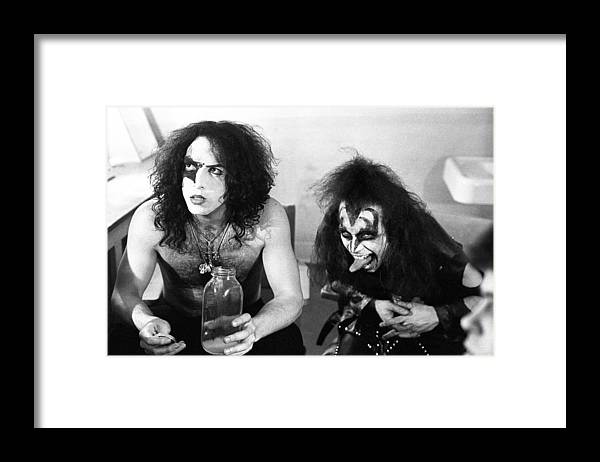Event Framed Print featuring the photograph Kiss Backstage Portrait Session by Michael Ochs Archives