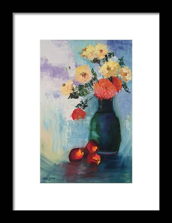 Framed Print featuring the painting Kitchen Joy by Karen Jordan