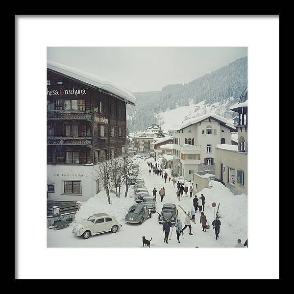 Skiing Framed Print featuring the photograph Klosters by Slim Aarons