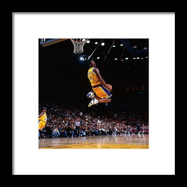 Nba Pro Basketball Framed Print featuring the photograph Kobe Bryant Action Portrait by Andrew D. Bernstein
