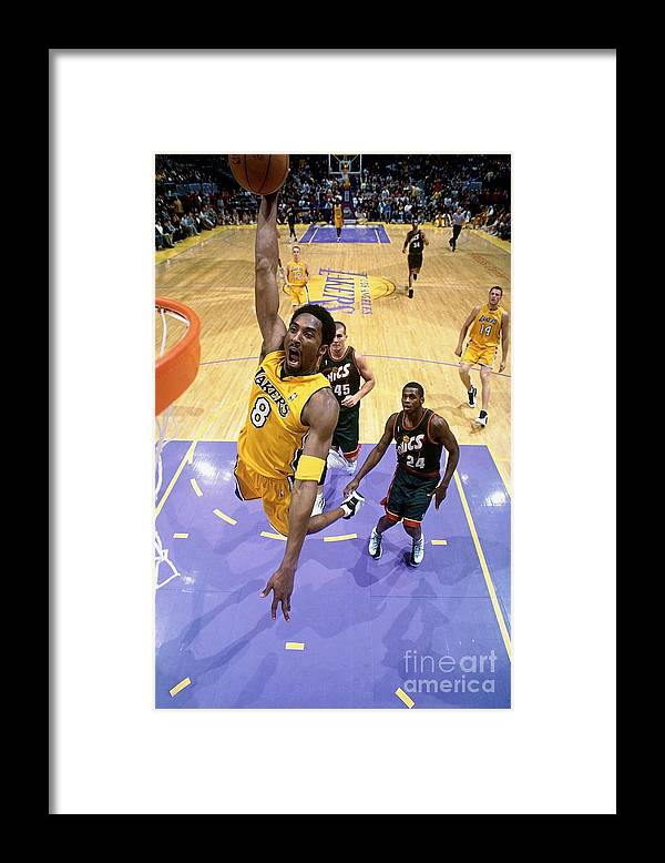Nba Pro Basketball Framed Print featuring the photograph Kobe Bryant Classics by Andrew D. Bernstein