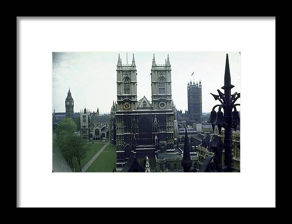 Timeincown Framed Print featuring the photograph L-r Big Ben Clock Tower, Houses Of by Eliot Elisofon