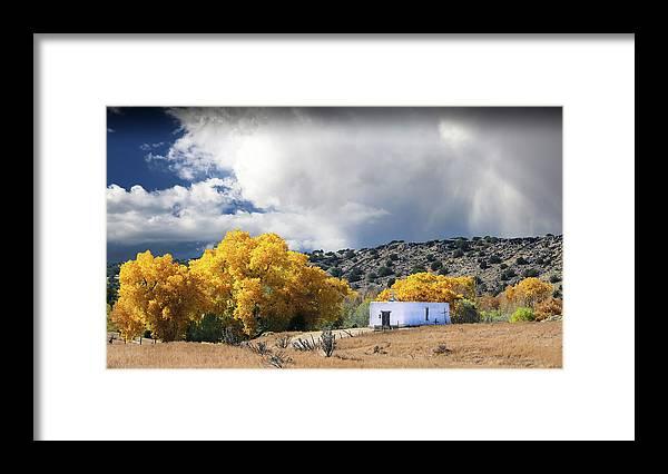 Capilla Framed Print featuring the photograph La Cieneguilla Capilla by Candy Brenton