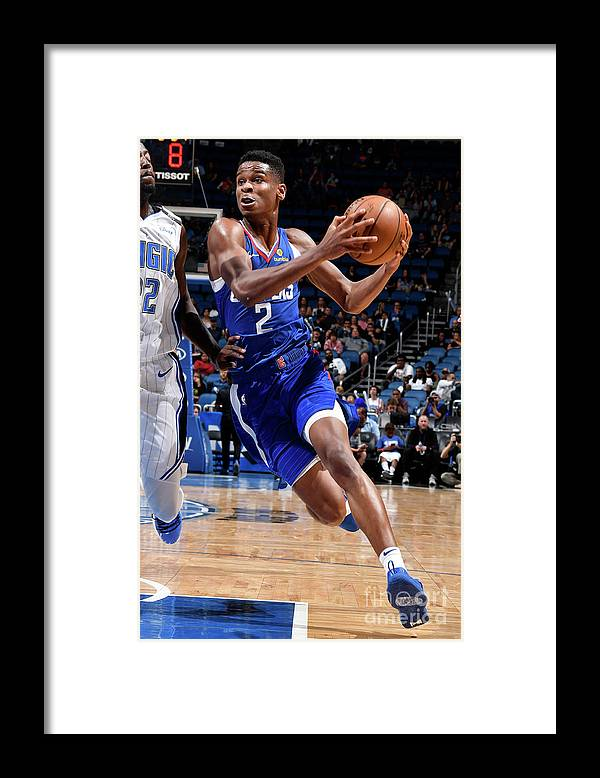 Nba Pro Basketball Framed Print featuring the photograph La Clippers V Orlando Magic by Fernando Medina