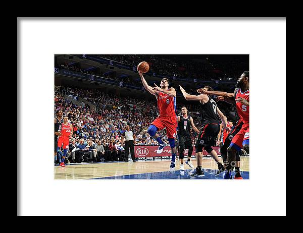 Nba Pro Basketball Framed Print featuring the photograph La Clippers V Philadelphia 76ers by Jesse D. Garrabrant
