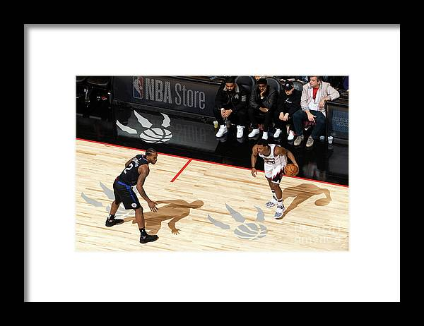 Nba Pro Basketball Framed Print featuring the photograph La Clippers V Toronto Raptors by Mark Blinch