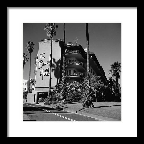 Shadow Framed Print featuring the photograph La Hotel by Slim Aarons