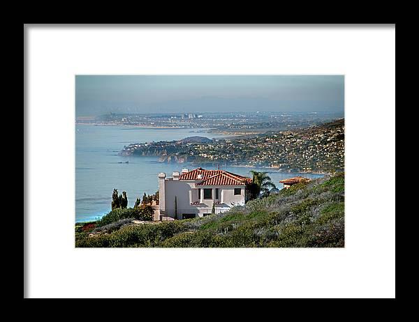 Laguna Beach Framed Print featuring the photograph Laguna Beach Hilltop Homes by Mitch Diamond