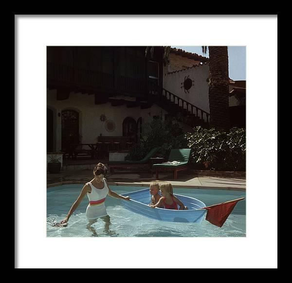 Laguna Beach Framed Print featuring the photograph Laguna Beach Home by Slim Aarons