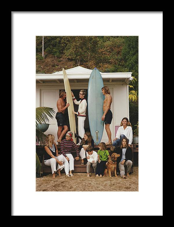 Pets Framed Print featuring the photograph Laguna Beach by Slim Aarons