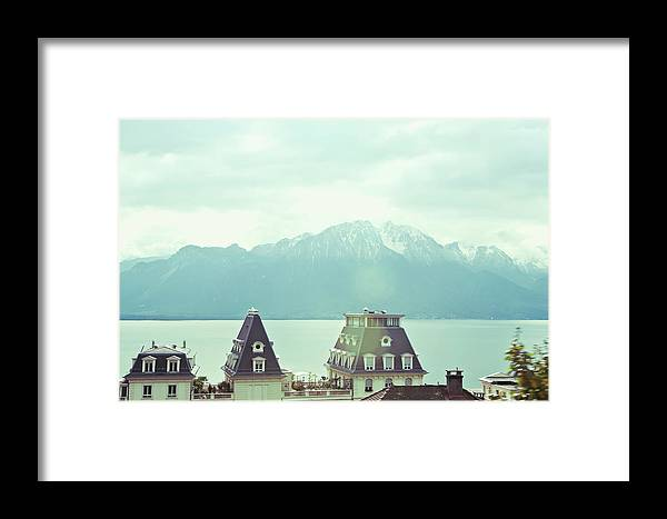 Scenics Framed Print featuring the photograph Lake Geneva, Lausanne, Switzerland by Chrispecoraro