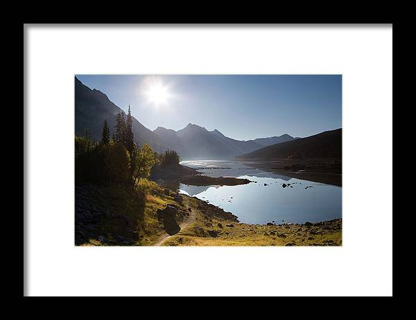 Clear Sky Framed Print featuring the photograph Lake Maligne - Jasper National Park by Ingmar Wesemann