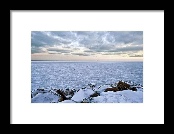 Tranquility Framed Print featuring the photograph Lake Michigan by By Ken Ilio