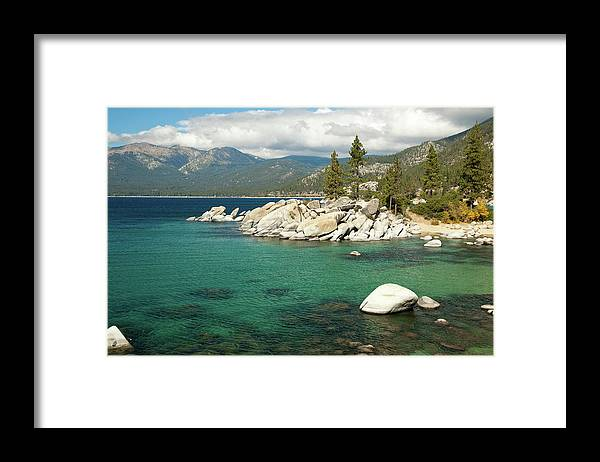 Scenics Framed Print featuring the photograph Lake Tahoe Landscape by Megan Ahrens