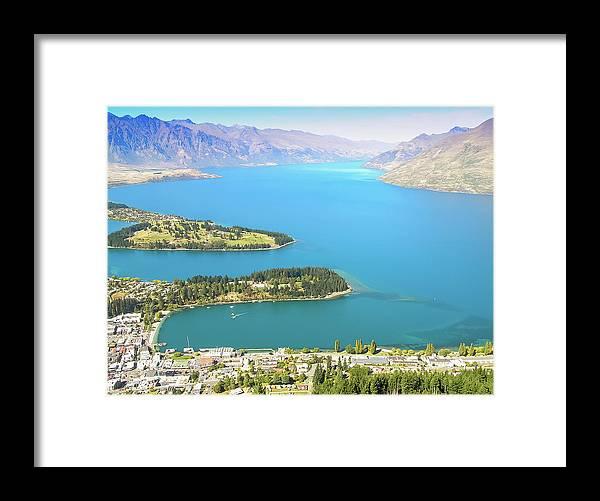 Scenics Framed Print featuring the photograph Lake Wakatipu by Steve Oldham