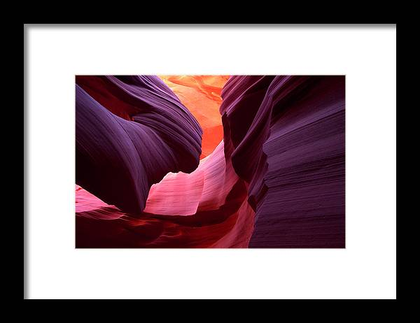 Scenics Framed Print featuring the photograph Landscape Image Of Lower Antelope by Justinreznick