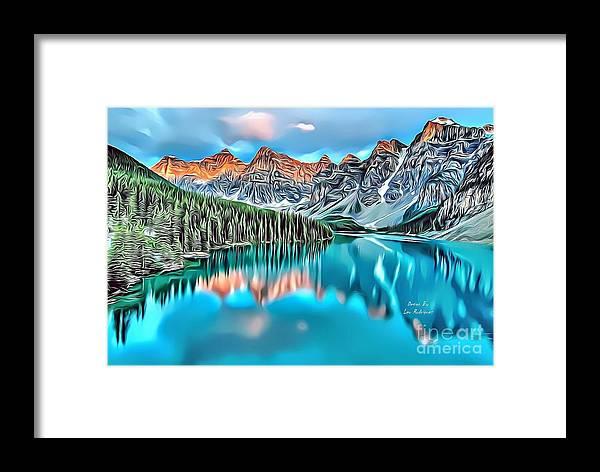 Landscapes Framed Print featuring the digital art Landscapes 31 by Leo Rodriguez