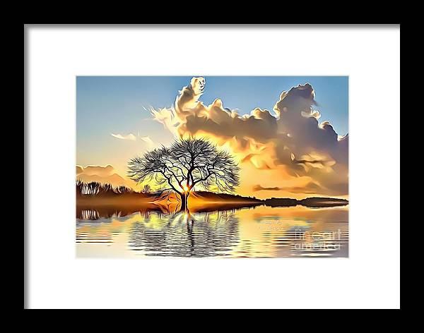 Landscapes Framed Print featuring the digital art Landscapes 33 by Leo Rodriguez
