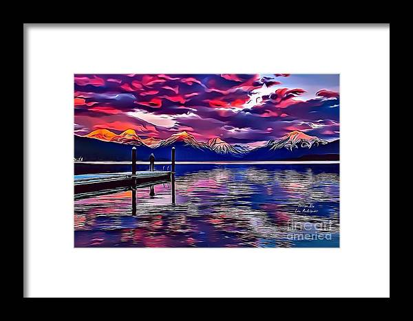 Landscapes Framed Print featuring the digital art Landscapes 37 by Leo Rodriguez
