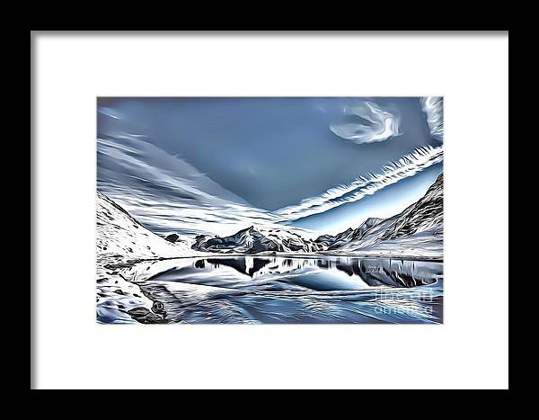 Landscapes Framed Print featuring the digital art Landscapes 40 by Leo Rodriguez