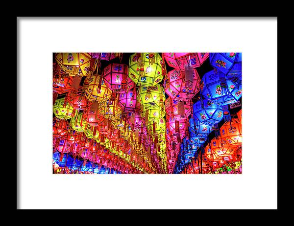 Tranquility Framed Print featuring the photograph Lanterns Hanging by Jason Teale Photography Www.jasonteale.com