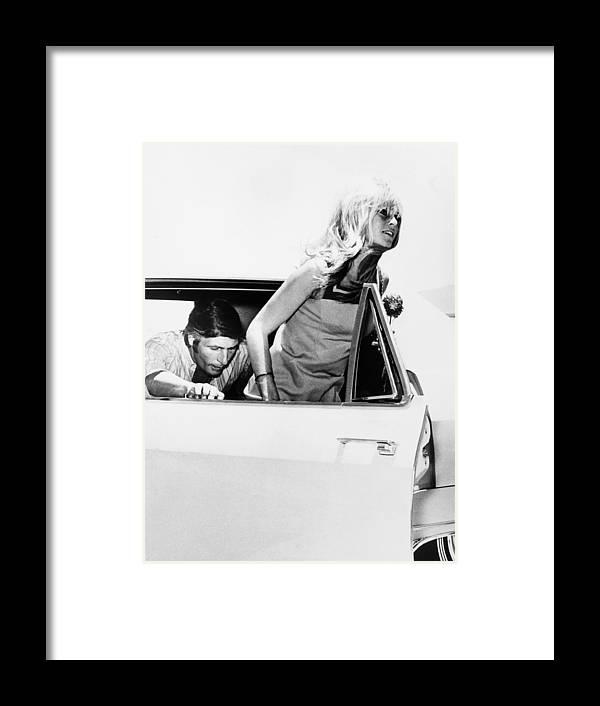 Husband Framed Print featuring the photograph Las Vegas, Brigitte Bardot And Gunther by Keystone-france