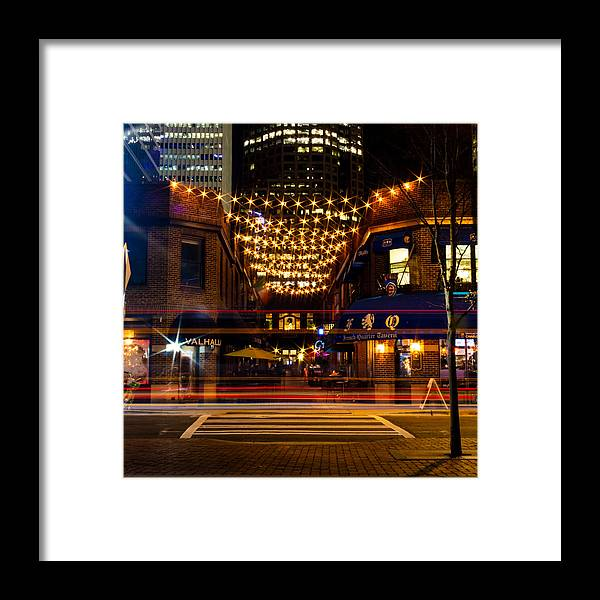 Latta Framed Print featuring the photograph Latta Arcade Light Trails by Christine Buckley